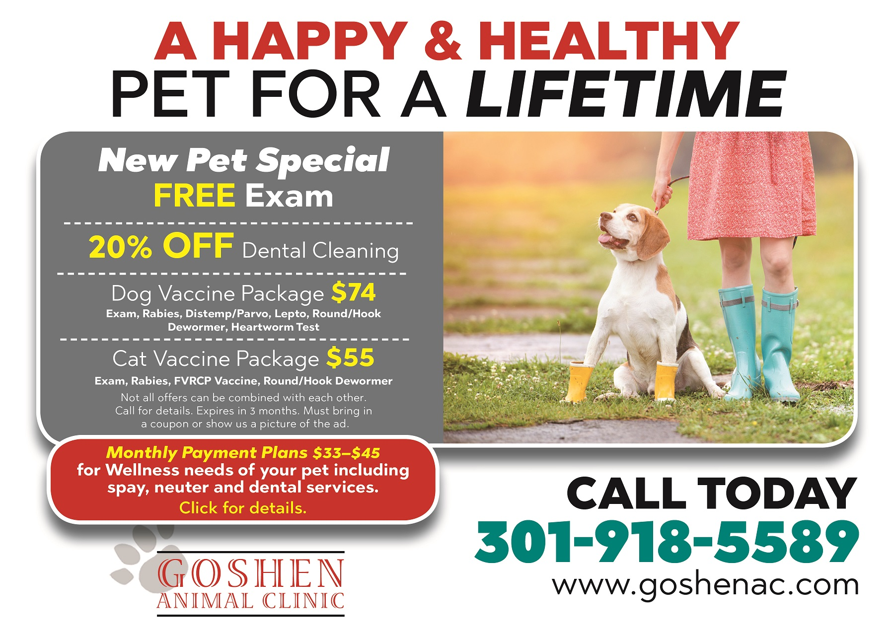 Goshen Animal Clinic, promotion